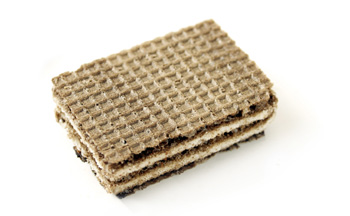Black and white wafer sandwich